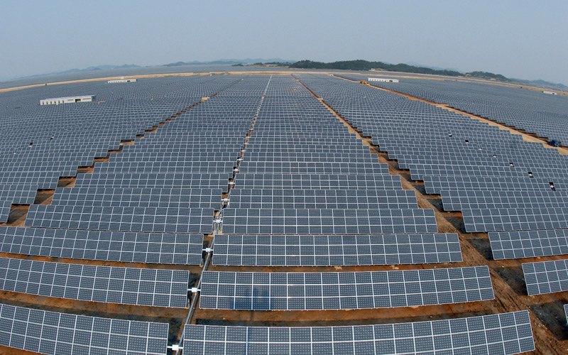 Utility scale solar power park